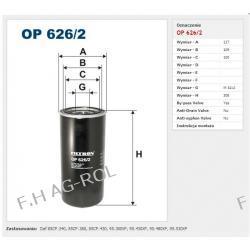 Filtr oleju FILTRON-OP 626/2 Zastosowania:   Daf 85CF.340, 85CF.380, 85CF.430, 95.380XF, 95.430XF, 95.480XF, 95.530XF