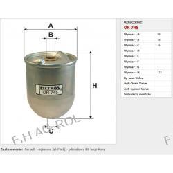 Filtr Filtron OR 745 Zastosowania:   Renault – ciężarowe  – odśrodkowy filtr bocznikowy
