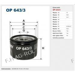 Filtr oleju FILTRON OP 643/3. zastosowanie:RENAULT-CLIO II-1.9 DTI/ RENAULT-ESPACE IV-2.0 16V Turbo