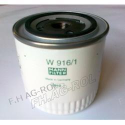 Filtr oleju MANN-W916/1 zastosowanie: JCB NR:32/910700, NEW HOLLAND NR:,FORD