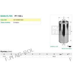 Filtr oleju wkład MANN PF1190X zastosowanie: CLAAS-DOMINATOR,JAGUAR,MERCATOR KOMBAJNY, MERCEDES