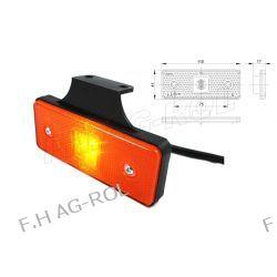 Lampa obrysowa pomarańczowa wisząca DIODOWA 12V/24V Lampy tylne