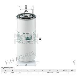 Filtr paliwa MANN-WK 962/4, zastosowanie:DAF, JCB ,CLAAS, NEW HOLLAND,LEYLAND-DAF,