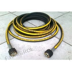 Wąż przewód do myjki KARCHER 30 metrów,250 BAR, TEMP: DO 155° ,DN06 , oplot metalowy Lampy tylne