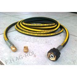 Wąż przewód do czyszczenia rur i kanalizacji, myjki KARCHER, 8 metrów,250 BAR, TEMP: DO 155° ,DN06 , oplot metalowy