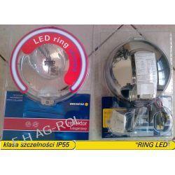 Reflektor drogowy halogen dalekosiężny - chromowany, ze światłem pozycyjnym w światłowodzie typu HOS2 12V lub 24V