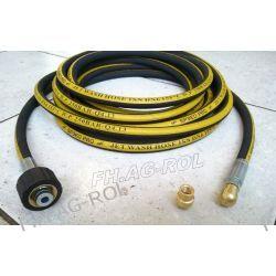 Wąż przewód do czyszczenia rur i kanalizacji, myjki KARCHER, 5 metrów,250 BAR, TEMP: DO 155° ,DN06 , oplot metalowy