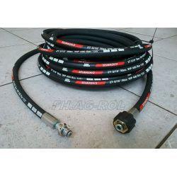 Wąż przewód 15-metrów do myjni,myjki KARCHER ,400 BAR, TEMP: DO 155° ,DN08 ,2SN-2 x oplot metalowy,z łożyskiem