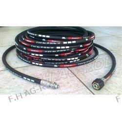 Wąż przewód 40-metrów do myjni,myjki KARCHER ,400 BAR, TEMP: DO 155° ,DN08 ,2SN-2 x oplot metalowy Żarówki