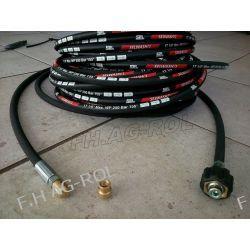 Wąż przewód do czyszczenia rur i kanalizacji,kret myjki KARCHER,40 metrów,250 BAR, TEMP: DO 155° ,DN06 , oplot metalowy
