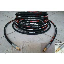Wąż przewód do myjki KARCHER 18 metrów,2 x wtyk typu CLICK-CLICK ,250 BAR, TEMP: DO 155° ,DN06 , oplot metalowy Żarówki