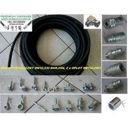 Wąż przewód hydrauliczny,DN10, 330 BAR,2SN-2 x oplot metalowy,cena za 1 metr bieżący Części do maszyn rolniczych