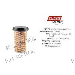 Filtr powietrza BALDWIN-FILTERS nr: PA3758 ,zastowanie kombajny VOLVO NR:7354867 ,MANN FILTER nr:C1176