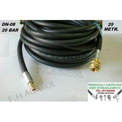 Wąż przewód do kompresora,25 metr. 20-BAR. DN08, zakuty Żarówki