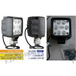 Lampa robocza z diodami LED i optyką FF, 1500lm , 6 diod LED 12V-24V z kablem
