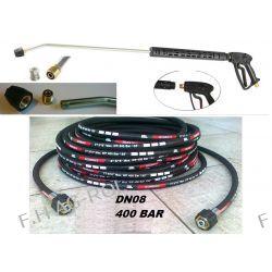 Wąż przewód 400 BAR 20metr+pistolet+lanca+dysza do Karcher HD HDS