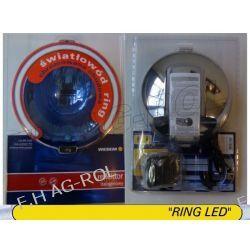 Reflektor drogowy halogen dalekosiężny - chromowany, błękitny ze światłem pozycyjnym w światłowodzie typu HOS2 ,12V