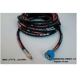 Wąż przewód do myjki STIHL RE ,NILFISK ,10 metr  ,nakrętka gwin:1/2  (trzpień-wtyk 14mm) + wtyk do pistoletu (STIHL , NILFISK )