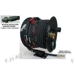 Wąż przewód 40-metrów, 400 BAR,DN08+ bęben zwijak do KARCHER HD/HDS,wtyk-trzpień 11mm z łożyskiem