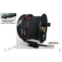 Wąż przewód 50-metrów, 400 BAR,DN08+ bęben zwijak do KARCHER HD/HDS,wtyk-trzpień 11mm z łożyskiem
