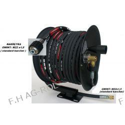 Wąż przewód 50-metrów, 400 BAR,DN08+ bęben zwijak do KARCHER HD/HDS i innych myjek