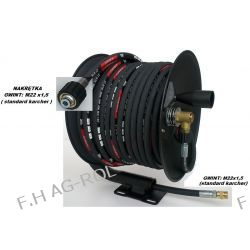 Wąż przewód 40-metrów, 400 BAR,DN08+ bęben zwijak do KARCHER HD/HDS i innych myjek