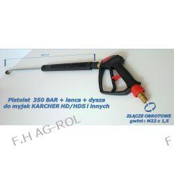 Pistolet obrotowy + lanca + dysza do myjek KARCHER HD HDS,KRANZLE, i innych. Ciśnienie max 350 bar