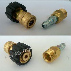 Szybkozłącze do węży ciśnieniowych, gniazdo+ wtyk,do myjek KARCHER gwint M22x1,5/M22x1,5