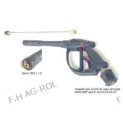 Pistolet + Lanca + dysza do myjek KARCHER serii K2..., K3..., K4..., K5..., K6..., K7 z gniazdem typy click
