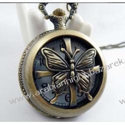 Zegarek w stylu naszyjnika - retro / MOTYLI ZEW /