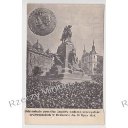 Kraków - Odsłonięcie pomnika Jagiełły 1910 - kolaż