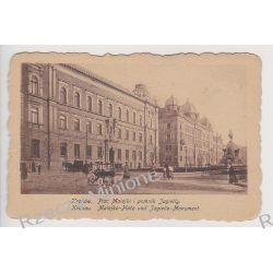 Kraków - Plac Matejki i pomnik Jagiełły - 1918 r