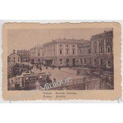 Kraków - Dworzec kolejowy tramwaj - 1918 r