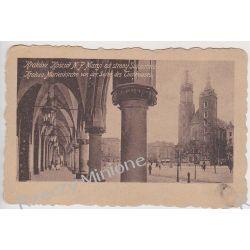 Kraków - kościół NMP od strony Sukiennic - 1918 r