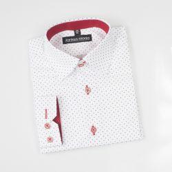 Wizytowa koszula chłopięca wzór krzyżyki