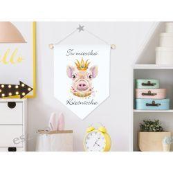 Proporczyk, obrazek, plakat do pokoju dziecka, księżniczka