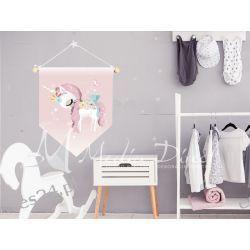 Proporczyk, obrazek, plakat do pokoju dziecka, jednorożec