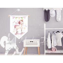 Proporczyk, obrazek, plakat do pokoju dziecka, bądź wolny
