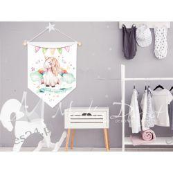 Proporczyk, obrazek, plakat do pokoju dziecka, miej wielkie marzenia