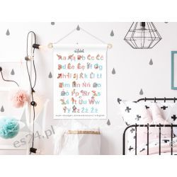 obrazek, plakat do pokoju dziecka, alfabet