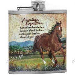 Piersiówka myśliwska z koniem American Expedition
