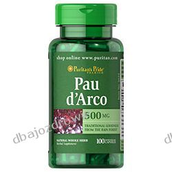 PAU D'ARCO, 500 mg /100 kaps. PURITAN'S PRIDE, USA