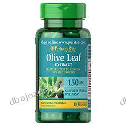 EKSTRAKT Z LIŚCI OLIWNYCH, Olive Leaf Standardized Extract 150 mg / 60 kaps., PURITAN'S PRIDE  Kremy i maści