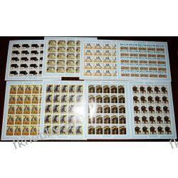 Rwanda 1984 Mi ark 1283-90 B ** Zwierzęta Nieząbkowane Rarytas !!!