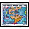 Austria 1992 Mi 2062 ** Europa Cept Ameryka Mapa