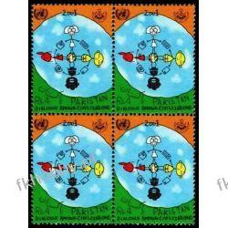 Pakistan 2001 Mi 1101 x4 ** Dialog Wspólne Wydanie