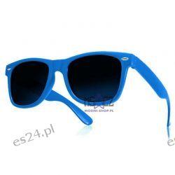 Okulary WAYFARER nerdy kujonki - niebieskie