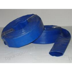 """Wąż PVC 52 mm (2"""") niebieski 3 BAR MEGAFLAT"""