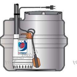 Przepompownia SAR 100 z pompą RXm 3 do odwodnień liniowych i wód deszczowych PEDROLLO