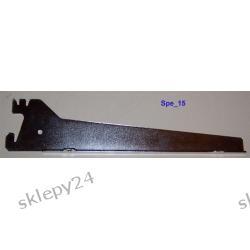 Wspornik pod półkę prosty - 40 cm srebro
